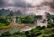 Gambar Pemandangan Alam Terindah di Dunia Air Terjun Aliran Air Sungai Cantik Copy